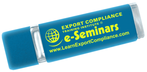 A USB drive with the title, e-Seminar, printed on the side.