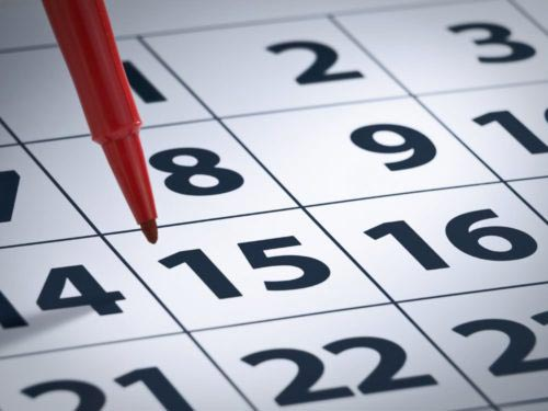 A simple white calendar.
