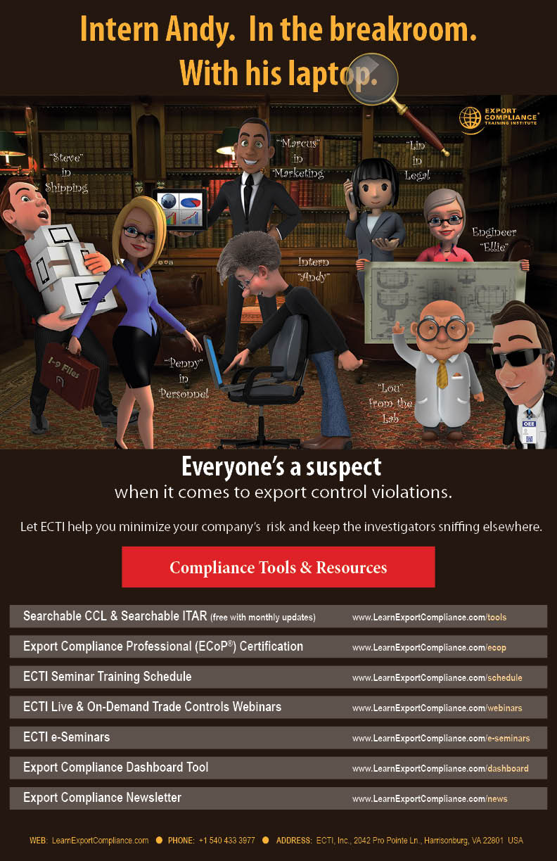 Free Export Controls Posters   Export Compliance Training